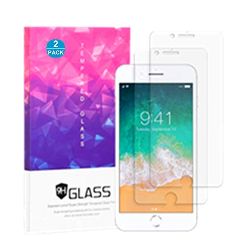Folice Screen Protector Compatible with for iPhone 8/7 /6s /6-2Pack 2.5D Edge Tempered Glass 0.3mm Ultra Thin 9H Hardness Anti Scratch Case Friendly