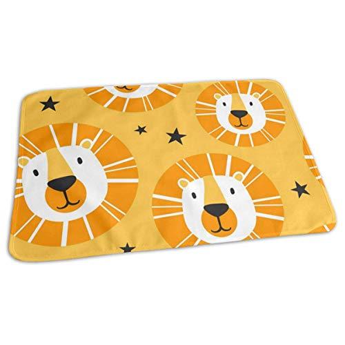 Lions and Stars Housse de matelas à langer réutilisable pour bébé 27,5 x 19,7 cm