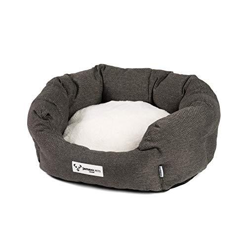 JAMAXX Hunde-Körbchen Bequem Weich, Wendekissen Waschbar Hundekorb Hundebett mit Komfort-Polsterung PDB2089 (S) 50x40, grau