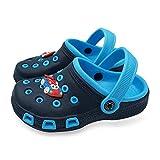 Toddler Little Kids Clogs Slippers Sandals, Non-Slip Girls Boys Clogs Slide Lightweight Garden Shoes Slip-on Beach Pool Shower Slippers (Blue, Numeric_9)