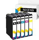 TONERPACK 5 Cartuchos de Tinta para Epson 603XL, Reemplazos Compatibles 603 XL para Epson Expression Home XP-3100 XP-4100 XP-2100 XP-2105 XP-3105 XP-4105 Workforce WF-2810 WF-2830 WF-2835 (Pack 5)