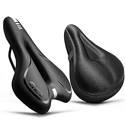ANZOME Bike Seat - Most Comfortable Bicycle Seat with Bike Seat Cushion - Waterproof Bike Saddle for Mountain Bikes, Road Bikes, Men and Women Universal Riding Bike