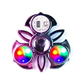 Yisimo LED Light Up Spinning Toy Rainbow Finger Fidget Toy Colorful Mano Spinner Fidget Toy Rilascio di Stress per Adulti e Bambini