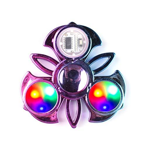 Yisimo Led Light Up Spinning Toy Rainbow Finger Fidget Toy Colorful Hand Spinner Fidget Toy Liberación de estrés para Adultos y niños