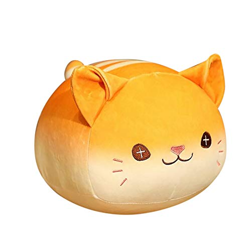 Creative Plush Toy Bread Kitten Plush Doll Cat Plush Toy Pillow Bread Cat Doll Sleeping Pillow Child Baby Plush Figure Stuffed Doll Soft and Comfortable Home Living Room Sofa Decoration (Yellow)