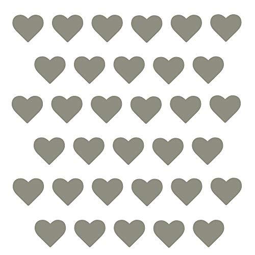 timalo® - Wandtattoo 50-100 Stück Herzen Aufkleber Deko Sticker Herz – 30 weitere Farben | 73070-weiss-50St-10cm