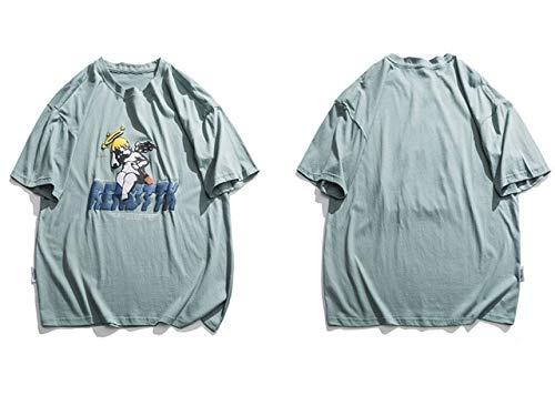 GVDFSEYL Drunk Angel Print T-Shirts Hip Hop Summer Casual Streetwear T-Shirts Hommes Harajuku Fashion Tops à Manches Courtes T-Shirts XL 202029G