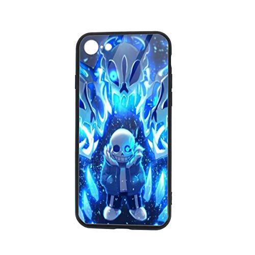 Allan-li Undertale-Sans iPhone 7 Case iPhone 8 Case, Soft TPU and Tempered Glass Double Layer Mobile Phone Case Cover for 4.7 in