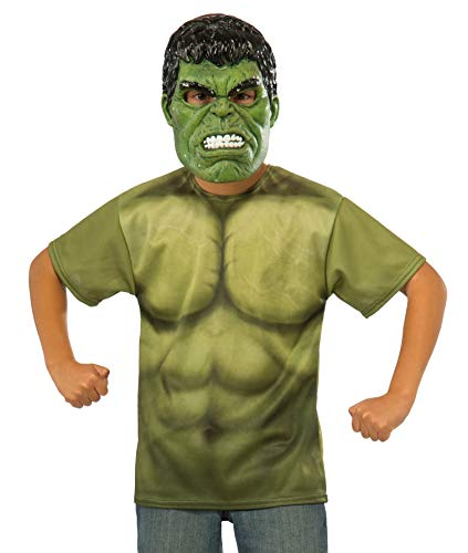 Rubie's Costume Avengers 2 Age of Ultron Child's Hulk T-Shirt and Mask, Large