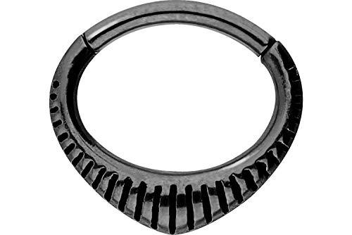 PIERCINGLINE Chirurgenstahl Segmentring Clicker | Design | Piercing Ring Septum Helix Tragus | Farbauswahl