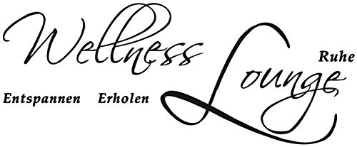 DD Dotzler Design | Wand-Tattoo Aufkleber | Wellness Lounge Entspannen Erholen Ruhe (75 x 30 cm, braun)