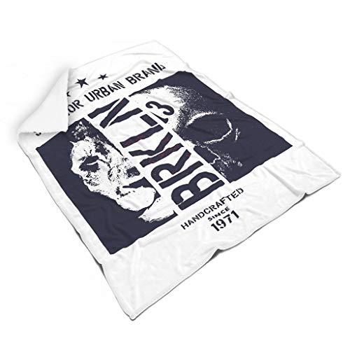 NC83 Vleermuisdeken, schedel design, print, microvezel, oversized deken, wit, voor volwassenen en vrouwen