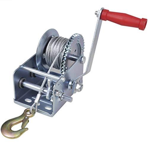vidaXL Cabrestante Manual de Cable 1134 kg/ 2500 ib 10 m Grúa Tirar Pluma Tracción