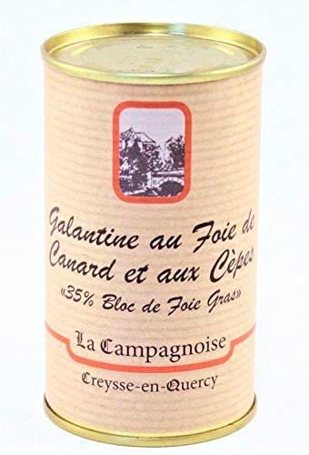 Galantine de Foie Gras de Canard aux Cèpes 35% Bloc de Foie Gras 190 g/ DIRECT PRODUCTEUR
