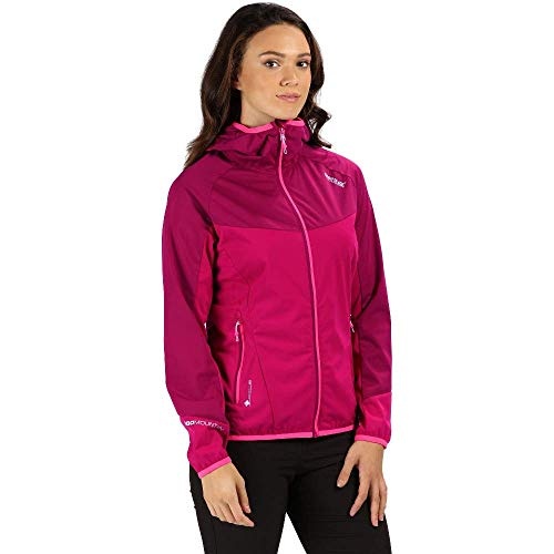 Regatta Womens Tarvos II Lightweight Wind Resistant and Water Repellent Softshell, Mujer, Cereza Oscura/Remolacha, 40