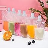 Bolsas reutilizables para alimentos para bebés, 12 pcs bolsas de destete reutilizable, bolsas de comida reutilizables bebe, batidos, yogur y alimentos para bebés (superficie mate de 300 ml)