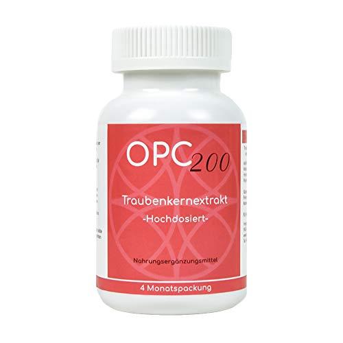 ARTHRO genial® - OPC 200 Traubenkernextrakt aus kalifornischen Weintrauben - Hochdosiert (600 mg pro Tagesdosis) - 360 vegane Tabletten