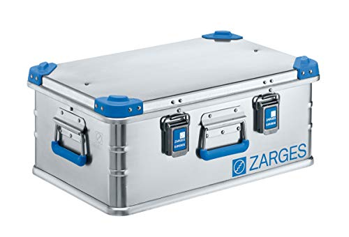 ZARGES Aluminium-Universalbox, Aufbewahrungsbox, Aluminiumkiste, Alu-Box, Profibox Inhalt 42 l Außenmaß LxBxH 600 x 400 x 250 mm