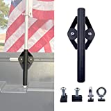 ENIXWILL Truck Bed Rail Flag Pole Mount Holder Fit for Toyota Tacoma Tundra
