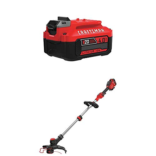 New CRAFTSMAN CMCST910M1 V20 MAX String Trimmer with CMCB204 20V MAX 4.0AH LI-ION Battery
