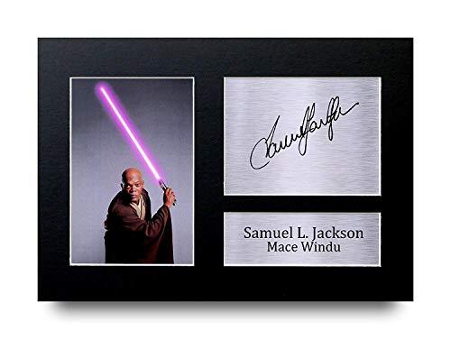 HWC Trading Samuel L. Jackson A4 Ungerahmt Signiert Gedruckt Autogramme Bild Druck-Fotoanzeige Geschenk Für Star Wars Mace Windu Filmfans