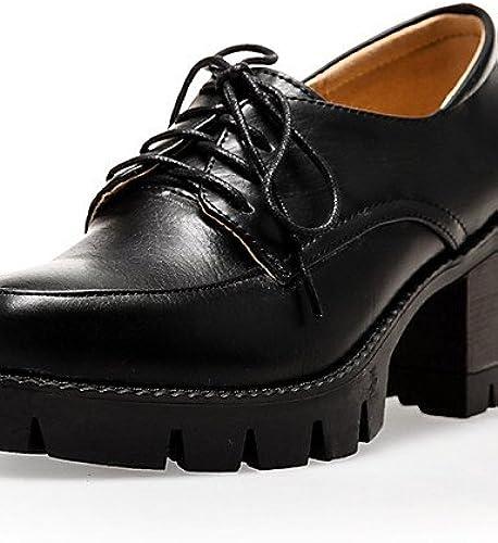 GGX  Chaussures Femme-Habillé Femme-Habillé   Soirée & EvéneHommest-Noir   Beige   Bordeaux-Gros Talon-Talons   A Plateau   Bout Arrondi-Chaussures à Talons-  exclusif