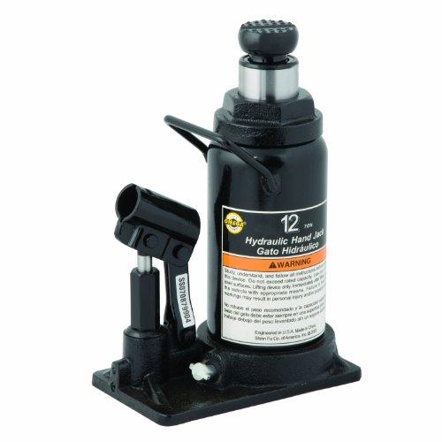 Omega 10120 Black Hydraulic in-Line Bottle Jack - 12 Ton Capacity