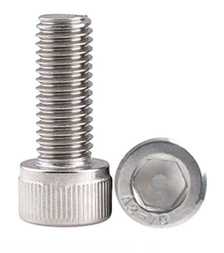 Silber,10 St/ück,Edelstahl M4 x 16mm M4 R/ändelschrauben Metrisches