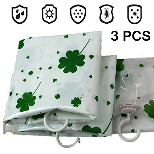 Hanguang vacuüm opbergtassen Jumbo 3 Pack dubbele ritssluiting herbruikbaar voor dekbedden, beddengoed, kussens, kleding, quilts, trui, Comforters, koffers