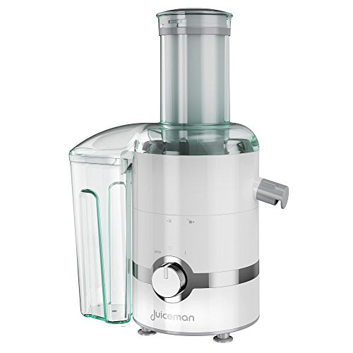 Juiceman JM3000 3-in-1 Total Electric Juicer, Juicer, Blender, & Citrus Juicer with 2L Removable Pulp Container & 24oz. Portable Personal Blending Jar (Travel Lid Included)