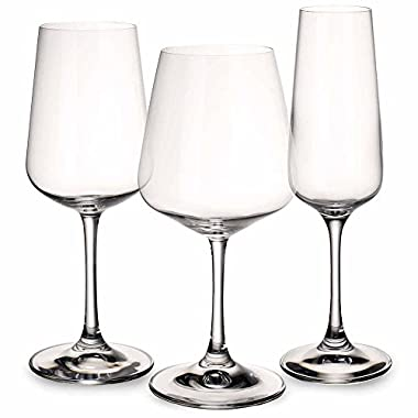 Ovid Wine Glass Set of 12 by Villeroy & Boch - Red, White, Champagne