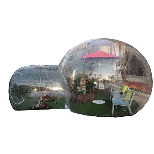 Tienda De Campaña De Burbujas Inflables con Túnel Único Casa Inflable De La Tienda De La Burbuja con Ventilador Y Bomba De Aire