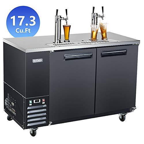 Sale!! Commercial Kegerator Beer Dispenser, KITMA 58 Inches Blend of Keg Refrigerator for Restaurant...