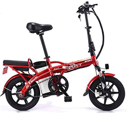Bici electrica, Bicicleta eléctrica Plegable de Acero al Carbono de Litio de...