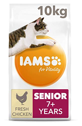 IAMS for Vitality Senior Dry Cat Food with Fresh Chicken, 10 kg