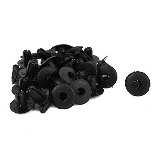 Zwarte Plastic klinknagels Fender Hot Rod Car Push Clips 25mm lengte 24x