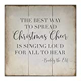 Wood Signs Wall Hanging Wall Decoration the Best Way to Spread Christmas Cheer Sign for Living Room Kitchen Batheroom Bedroom Office School 16x16inch