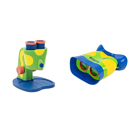Educational Insights GeoSafari Jr. My First Microscope STEM Toy for Preschoolers & GeoSafari Jr. Kidnoculars: Kids Binoculars - Perfect for Preschool Science