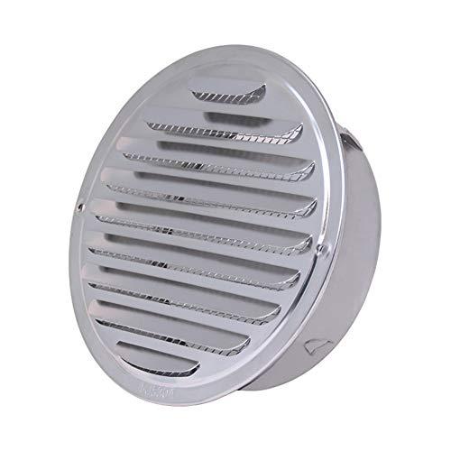 Cubiertas de escape de acero inoxidable Esfera salida de aire Rejilla de ventilación Espesar la capilla de montaje en pared para el baño Vents de cocina ventilador y las rejillas (200mm)