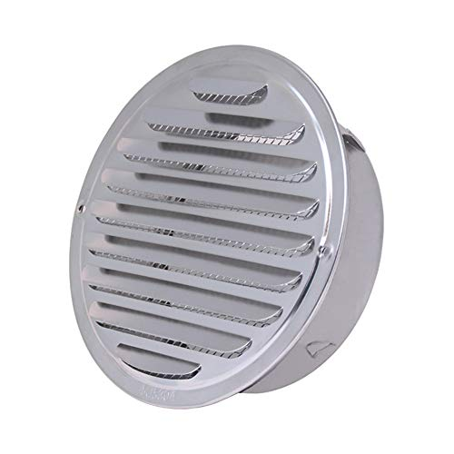 LQKYWNA Griglia di Ventilazione A Sfera, in Acciaio Inox, con Montaggio A Parete, per Bocchette di Scarico, per Bagno, Cucina E Ventilatori (160mm)