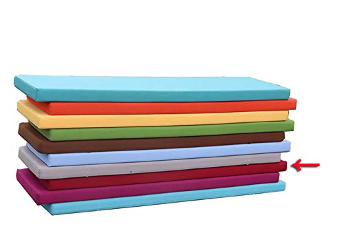 wangk Outdoor Bench Pad Cushion Comfortable Bench Cushion 5cm thick 2 Seater Cotton Garden Bench Pad for Garden Patio Lawn Bench or Swing