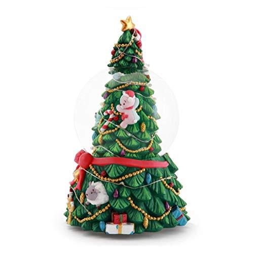 Spieluhr Crystal Ball Weihnachtsbaum Spieluhr Family Crafts ( Color : Green , Size : 11CM )