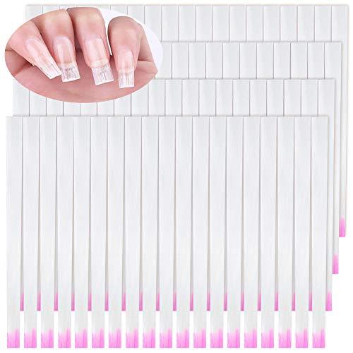 Xinzistar 100 Pezzi Fibra di Verto per Unghie Set Estensione Ricostruzione Unghie Professionale Gel Finte Unghia per Fai Da Te Nail Art Manicure Accessori