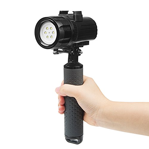 D&F Waterproof Torch LED Light 1000LM Diving 60m Video Flashlight Lamp for GoPro Hero 8/7/6/5/4/HERO(2018),DJI OSMO Action,AKASO,Campark,Crosstour,APEMAN and Other Action Sports Camera