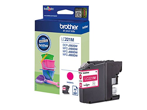 Brother original - Brother MFC-J 480 DW (LC221M) - Tintenpatrone Magenta - 260 Seiten - 3,9ml