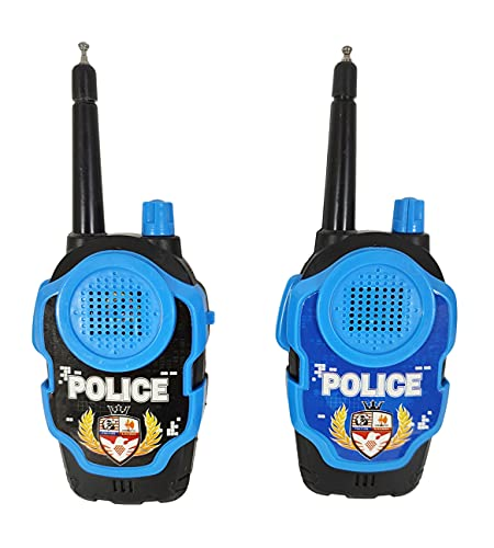 Humaira Police Walkie Talkie Toy Battery Operated 2 Player System Interphone for Kids Boys Children with Range Upto 100 Metre