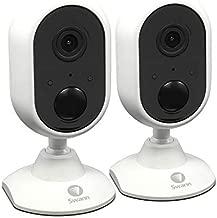 Swann Alert Indoor Security Camera Twin Pack, 1080p, Heat & Motion Sensing, 2-Way Talk, Audio Analytics and Siren, SWIFI-ALERTCAM