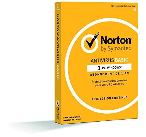 NortonLifeLock Antivirus Basic 2019 | 1 Appareil | 1 an | PC | Téléchargement