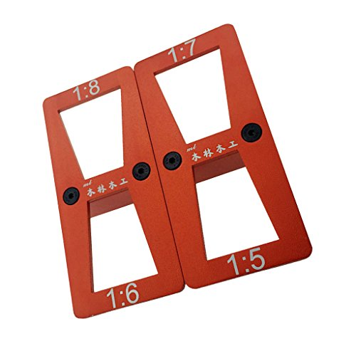Best Deals! 1 Piece Metal Dovetail Template Marker Size 1:5-1:7 And 1:6-1:8 Red New