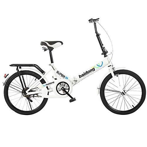 QINYUP Bicicleta Plegable de 20 Pulgadas Adulto Obra de la Escuela de Estudiantes de la Bici Bicicleta clásica Espacio Plegable portátil de Ahorro de Vespa